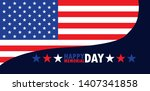 happy memorial day card with...   Shutterstock .eps vector #1407341858