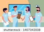 group of professionals doctors... | Shutterstock .eps vector #1407342038
