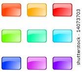 set of editable glossy web... | Shutterstock .eps vector #14073703
