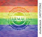 pharmacist on mosaic background ...   Shutterstock .eps vector #1407373562
