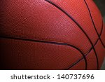 Closeup Of Basketball Ball...