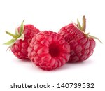 ripe raspberries isolated on... | Shutterstock . vector #140739532