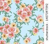 flower print. elegance seamless ... | Shutterstock .eps vector #1407397592