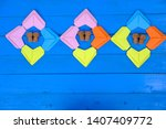 colorful heart on blue sky... | Shutterstock . vector #1407409772