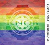 knob emblem on mosaic...   Shutterstock .eps vector #1407411545