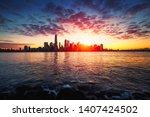 new york city skyline  new york ...   Shutterstock . vector #1407424502