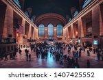 new york  usa   20 october 2018 ...   Shutterstock . vector #1407425552