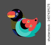 vector illustration colorful... | Shutterstock .eps vector #1407439175