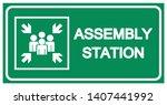 assembly station symbol sign ...   Shutterstock .eps vector #1407441992