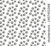 abstract seamless pattern  ... | Shutterstock .eps vector #1407452348
