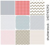 set of seamless backgrounds and ... | Shutterstock .eps vector #140745292