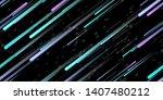 fast effect. motion neon.... | Shutterstock .eps vector #1407480212