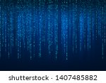 abstract technology binary code ... | Shutterstock .eps vector #1407485882