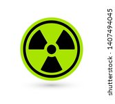 toxic green vector icon.... | Shutterstock .eps vector #1407494045