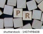 pr  public relation company or... | Shutterstock . vector #1407498608