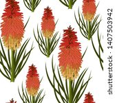 Hand Drawn Torch Lilly Or Red...