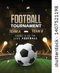 vector illustration football... | Shutterstock .eps vector #1407521198