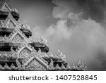Closeup Detail Of Temple In...