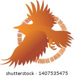 vector image of silhouettes of...   Shutterstock .eps vector #1407535475