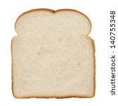slice of white bread isolated... | Shutterstock . vector #140755348