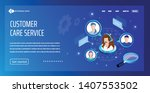 vector template for website and ... | Shutterstock .eps vector #1407553502