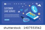 vector template for website and ... | Shutterstock .eps vector #1407553562