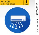 air conditioning icon with ion...