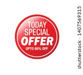 sale and special offer tag ... | Shutterstock .eps vector #1407569315