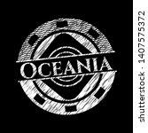 oceania chalk emblem. vector...   Shutterstock .eps vector #1407575372