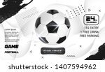 soccer poster design. football... | Shutterstock .eps vector #1407594962
