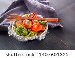 baked vegetables in foil  ...
