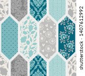 template seamless abstract... | Shutterstock .eps vector #1407612992