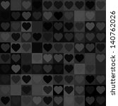 abstract background with hearts | Shutterstock . vector #140762026
