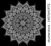 mandala pattern white doodles...   Shutterstock .eps vector #1407641972