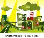 cityscape   vector | Shutterstock .eps vector #14076481