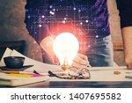 innovative your business. idea...   Shutterstock . vector #1407695582