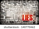 lies and the spreading of fake... | Shutterstock . vector #140770462
