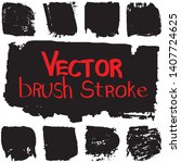 vector brush in grunge style. a ... | Shutterstock .eps vector #1407724625