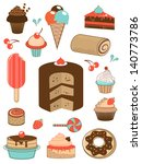 delicious sweets icons...