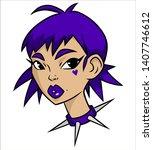 portrait of a cute girl....   Shutterstock .eps vector #1407746612