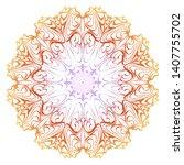 floral mandala ornament. vector ...   Shutterstock .eps vector #1407755702