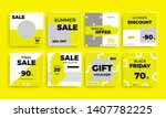 modern promotion square web... | Shutterstock .eps vector #1407782225