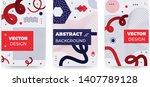 new memphis style poster set....   Shutterstock .eps vector #1407789128