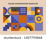 geometry minimalistic color... | Shutterstock .eps vector #1407793868
