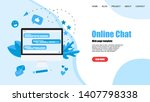 web template with messenger.... | Shutterstock .eps vector #1407798338