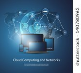 cloud computing concept | Shutterstock .eps vector #140780962