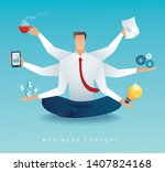 businessmen character... | Shutterstock .eps vector #1407824168