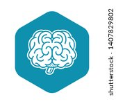 front brain icon. simple... | Shutterstock .eps vector #1407829802
