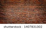 Dark Red Brick Wall Background...