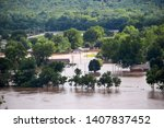 sand springs usa 5 25 2019 view ... | Shutterstock . vector #1407837452